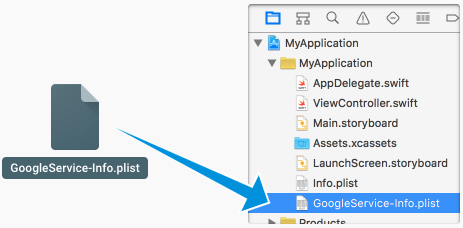 Copy Google Service Plist into Xcode Project